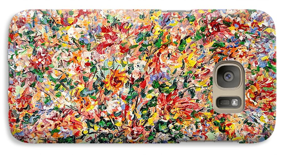 Flowers Galaxy S7 Case featuring the painting The Sunlight Flowers by Leonard Holland