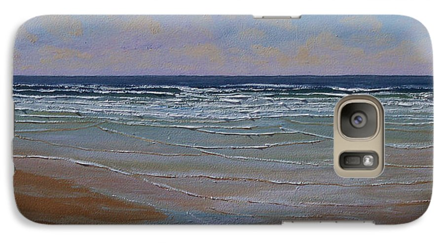 Seascape Galaxy S7 Case featuring the painting The Surf Walker by Frank Wilson