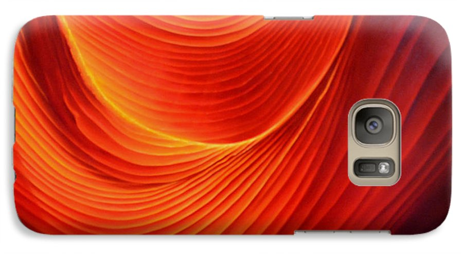 Antelope Canyon Galaxy S7 Case featuring the painting The Swirl by Anni Adkins