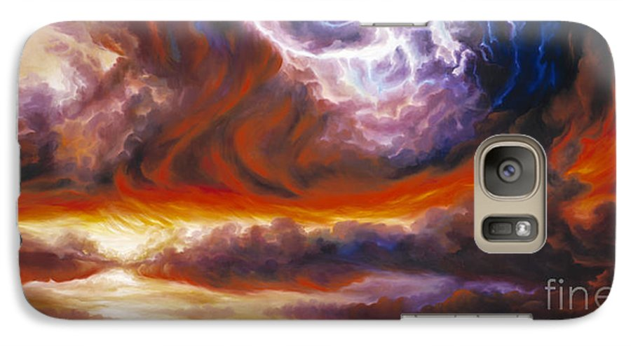 Tempest Galaxy S7 Case featuring the painting The Tempest by James Christopher Hill