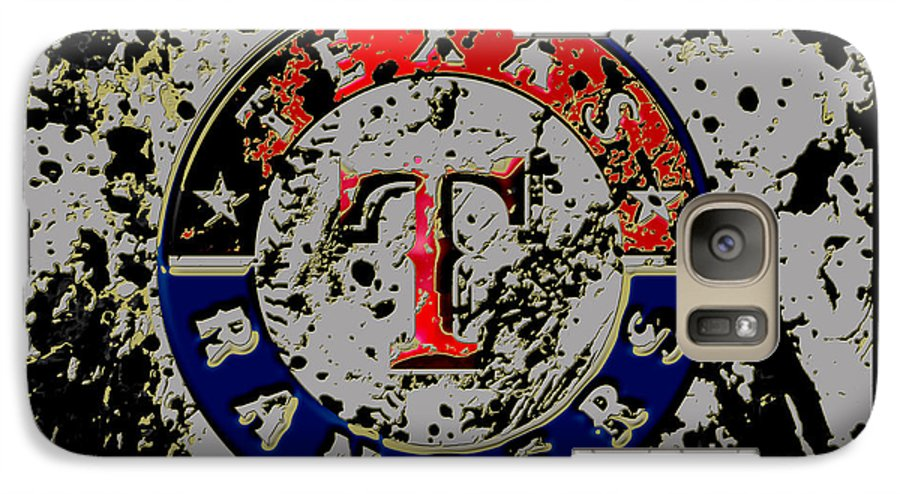 Texas Rangers Galaxy S7 Case featuring the mixed media The Texas Rangers 6b by Brian Reaves