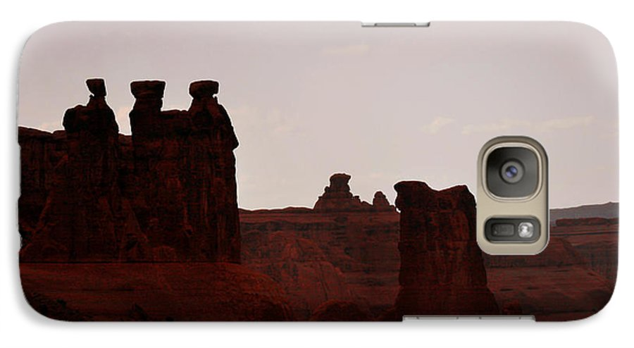 Landscape Galaxy S7 Case featuring the photograph The Three Gossips Arches National Park Utah by Christine Till