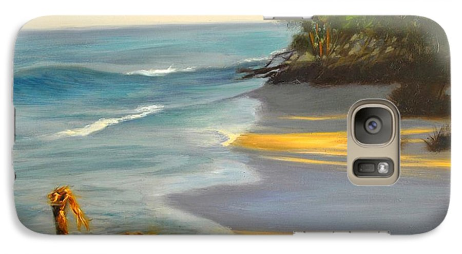 Landscape Galaxy S7 Case featuring the painting The Tide Is Blocking The Way by Greg Neal