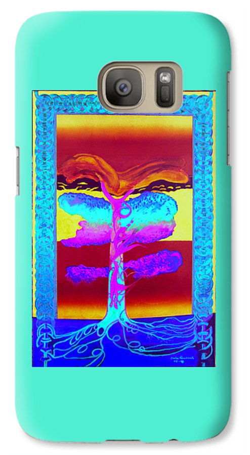 Myth/landscape Galaxy S7 Case featuring the painting The Tree Of Life. Norse Mythology. by Jarle Rosseland