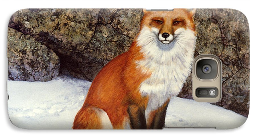 Wildlife Galaxy S7 Case featuring the painting The Wait Red Fox by Frank Wilson
