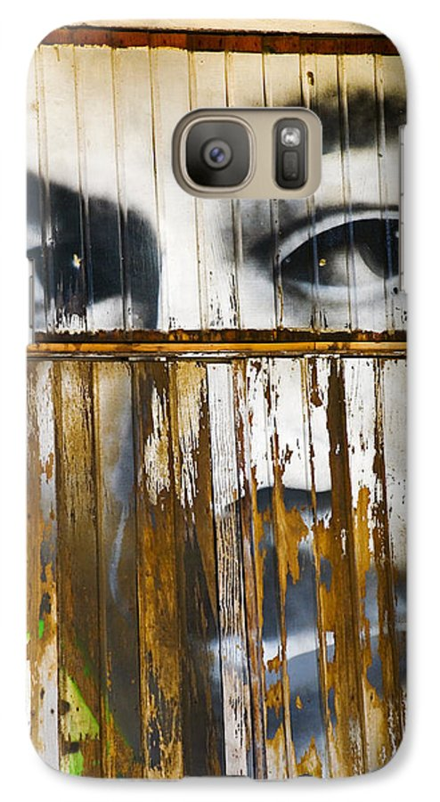 Escondido Galaxy S7 Case featuring the photograph The Walls Have Eyes by Skip Hunt