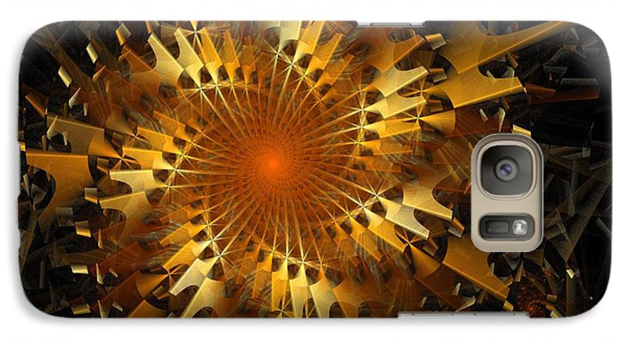 Digital Art Galaxy S7 Case featuring the digital art The Wheels Of Time by Amanda Moore