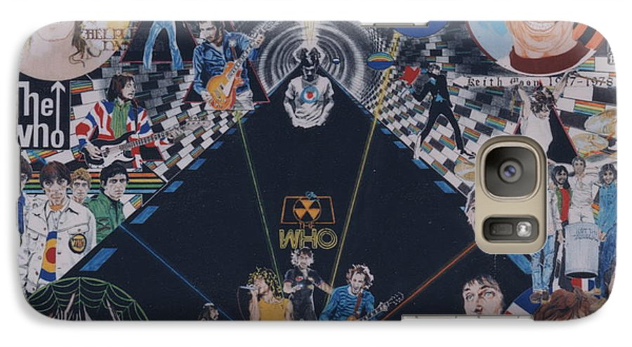 Pete Townshend;roger Daltrey;john Entwistle;keith Moon;quadrophenia;opera;story;four;music;guitars;lasers;mods;rockers;london;brighton;1964 Galaxy S7 Case featuring the drawing The Who - Quadrophenia by Sean Connolly