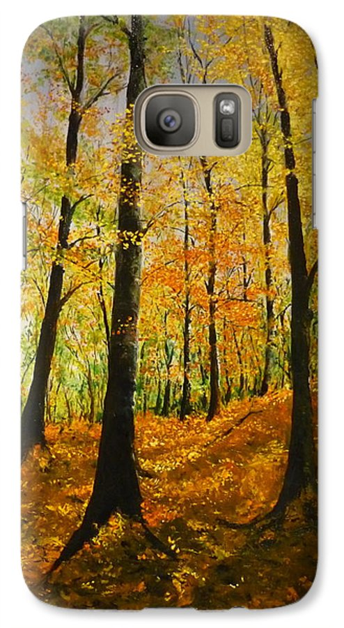 Fall Galaxy S7 Case featuring the painting The Wood For The Trees by Lizzy Forrester