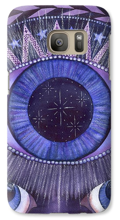 Thrid Eye Galaxy S7 Case featuring the painting Third Eye Chakra by Catherine G McElroy