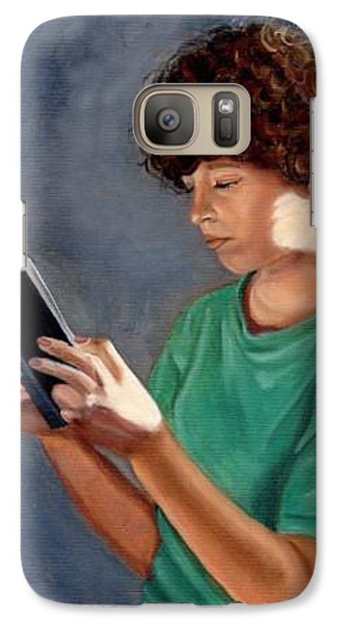 Portrait Galaxy S7 Case featuring the painting Thirst For Knowledge by Toni Berry
