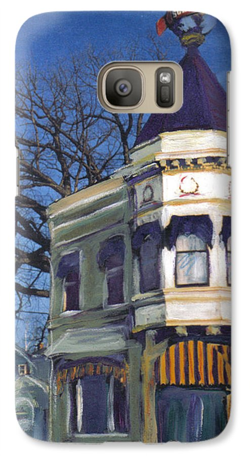 Miexed Media Galaxy S7 Case featuring the mixed media Three Brothers by Anita Burgermeister
