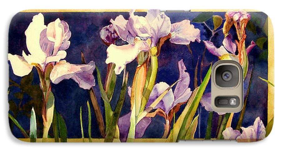 Irises Galaxy S7 Case featuring the painting Three Gossips by Linda Marie Carroll