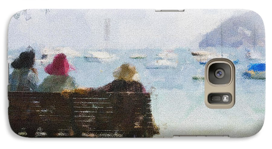 Impressionism Impressionist Water Boats Three Ladies Seat Galaxy S7 Case featuring the photograph Three Ladies by Avalon Fine Art Photography