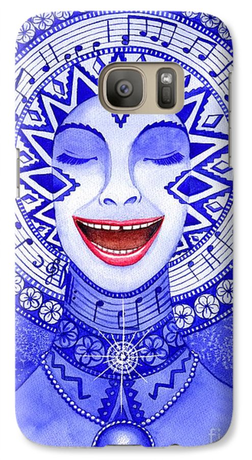 Chakra Galaxy S7 Case featuring the painting Throat Chakra by Catherine G McElroy