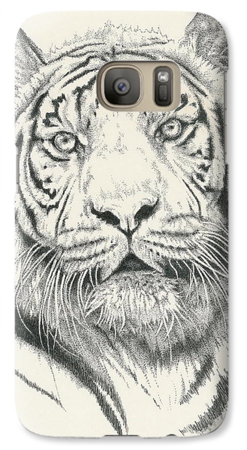 Tiger Galaxy S7 Case featuring the drawing Tigerlily by Barbara Keith