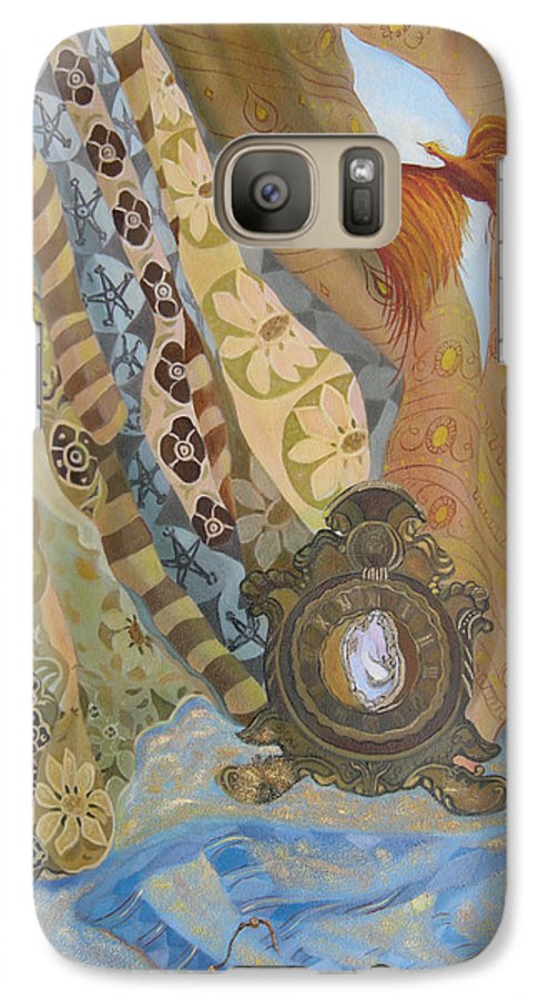 Still Life Galaxy S7 Case featuring the painting Time by Antoaneta Melnikova- Hillman