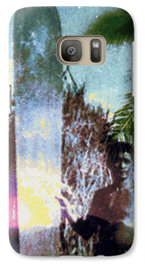 Tropical Interior Design Galaxy S7 Case featuring the photograph Time Surfer by Kenneth Grzesik