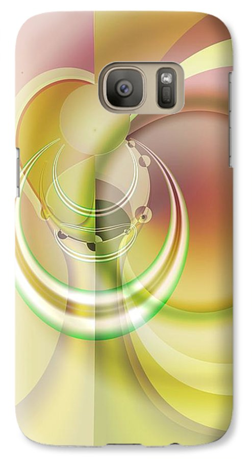 Fractal Galaxy S7 Case featuring the digital art Time Warp Revisited by Frederic Durville