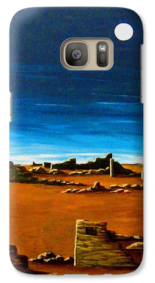 Anasazi Galaxy S7 Case featuring the painting Timeless by Diana Dearen