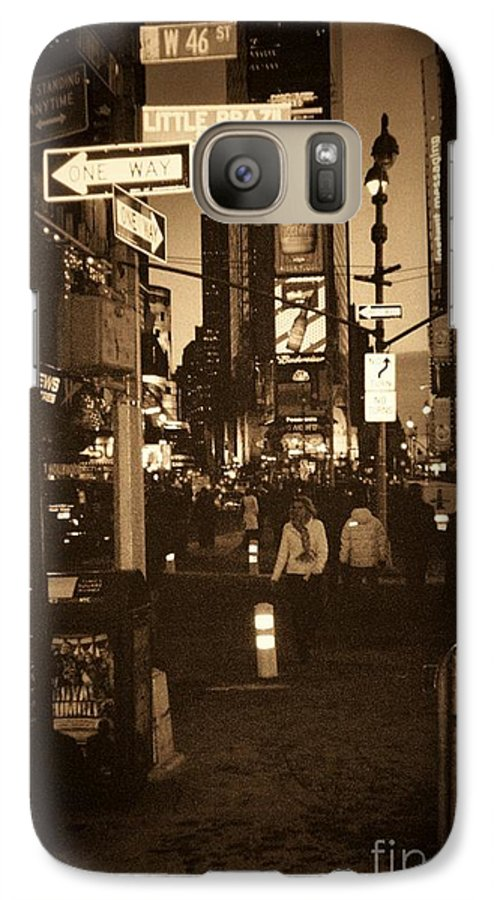New York Galaxy S7 Case featuring the photograph Times Square by Debbi Granruth