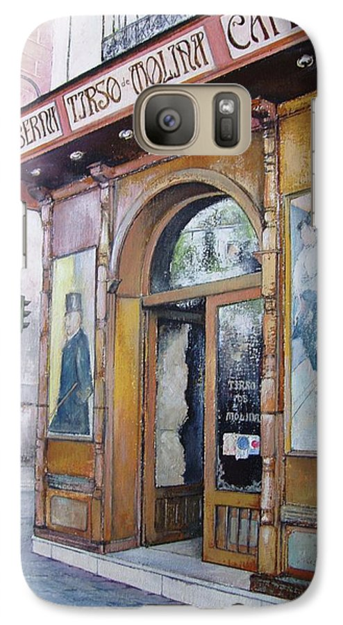 Tirso Galaxy S7 Case featuring the painting Tirso De Molina Old Tavern by Tomas Castano