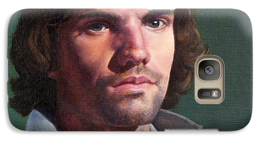 Portrait Galaxy S7 Case featuring the painting Toby by Deborah Allison