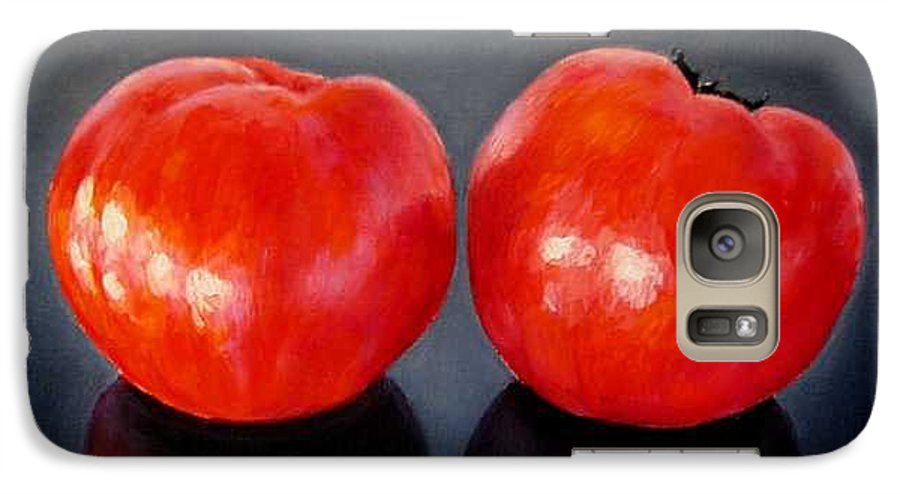 Tomatoes Galaxy S7 Case featuring the painting Tomatoes Original Oil Painting by Natalja Picugina