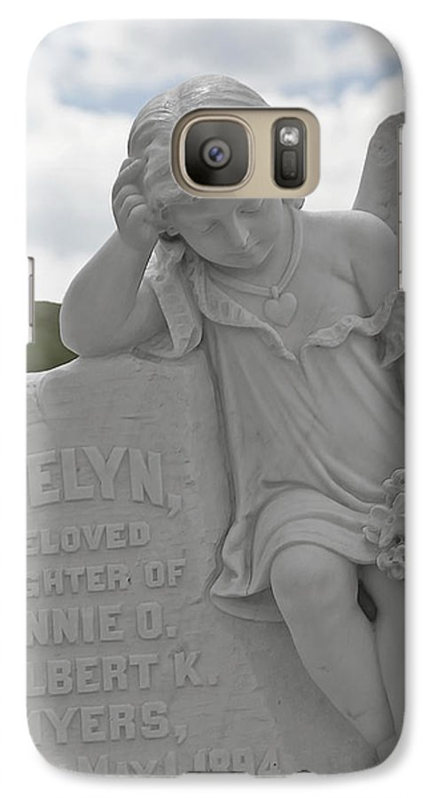 Bodie Galaxy S7 Case featuring the photograph Tombstone Angel For An Angel by Christine Till