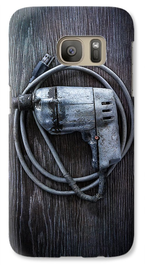 Industrial Galaxy S7 Case featuring the photograph Tools On Wood 30 by YoPedro