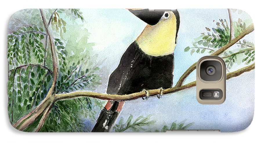 Toucan Galaxy S7 Case featuring the painting Toucan by Arline Wagner