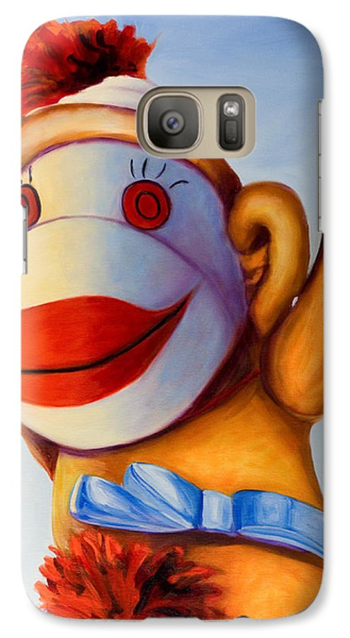 Children Galaxy S7 Case featuring the painting Touchdown by Shannon Grissom
