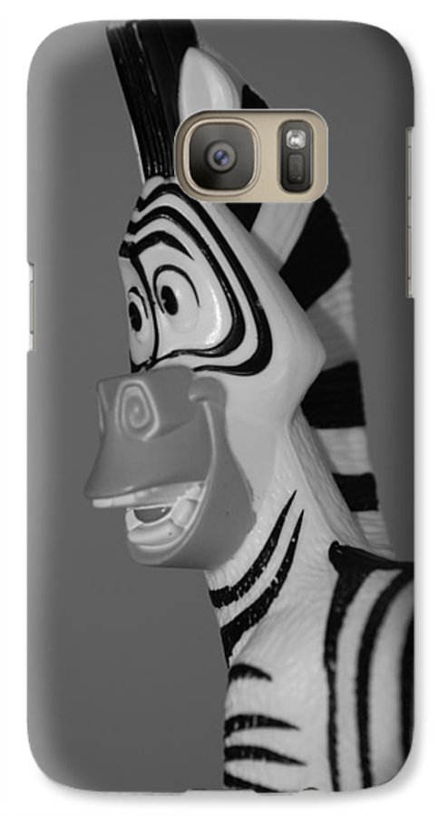 Black And White Galaxy S7 Case featuring the photograph Toy Zebra by Rob Hans