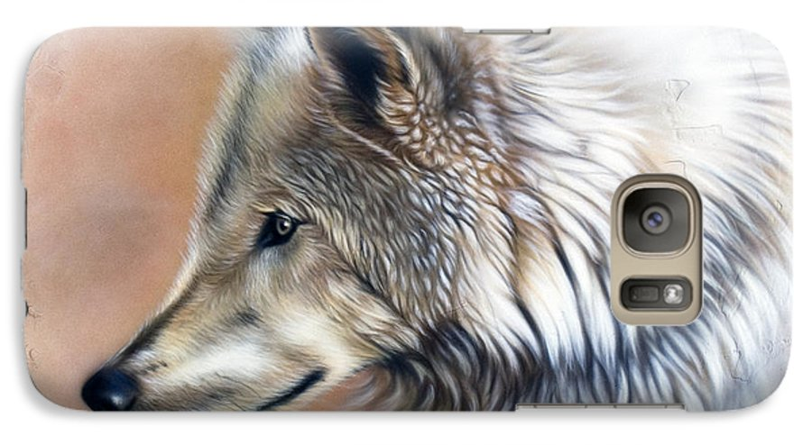 Wolves Galaxy S7 Case featuring the painting Trace IIi by Sandi Baker