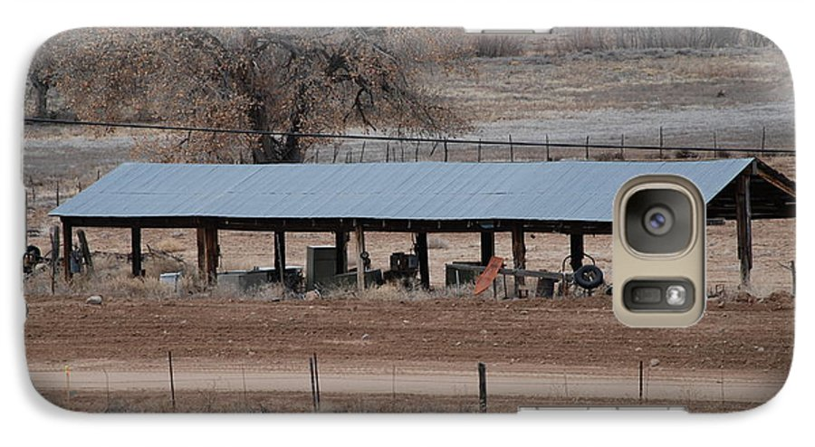 Architecture Galaxy S7 Case featuring the photograph Tractor Port On The Ranch by Rob Hans