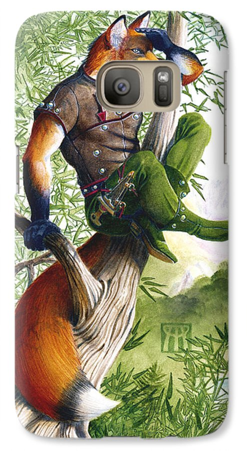 Fantasy Galaxy S7 Case featuring the painting Trail Blazing Fox by Melissa A Benson