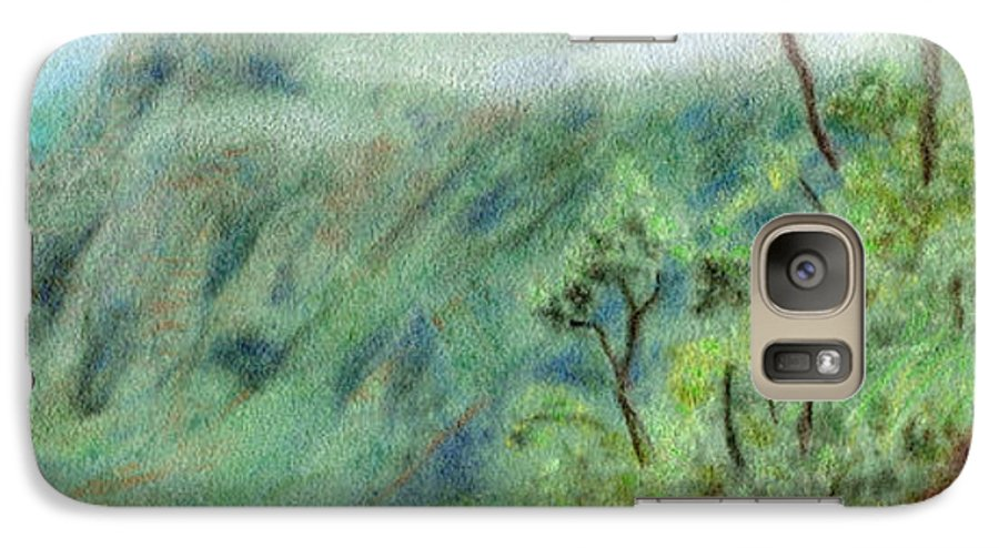 Rainbow Colors Pastel Galaxy S7 Case featuring the painting Trail's End by Kenneth Grzesik