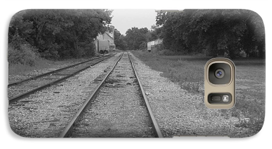 Train Galaxy S7 Case featuring the photograph Train To Nowhere by Rhonda Barrett