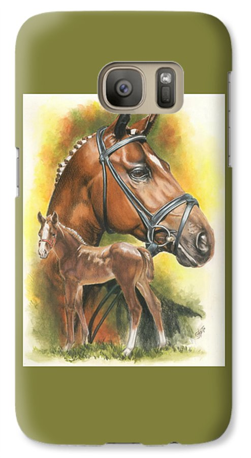 Equus Galaxy S7 Case featuring the mixed media Trakehner by Barbara Keith