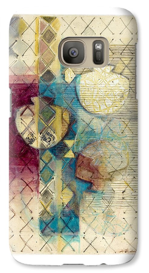 Mixed-media Galaxy S7 Case featuring the painting Trans Xs No 1 by Kerryn Madsen- Pietsch