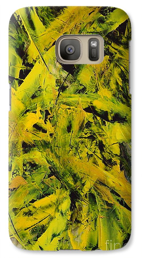 Abstract Galaxy S7 Case featuring the painting Transitions Vi by Dean Triolo