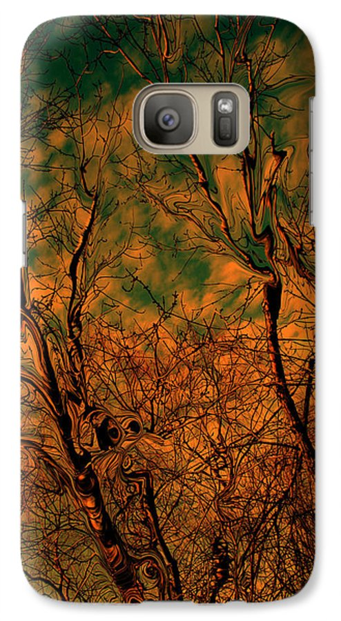 Trees Galaxy S7 Case featuring the photograph Tree Abstract by Linda Sannuti