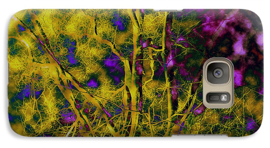 Abstract Galaxy S7 Case featuring the photograph Tree Glow by Linda Sannuti