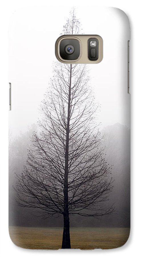 Scenic Galaxy S7 Case featuring the photograph Tree In Fog by Ayesha Lakes