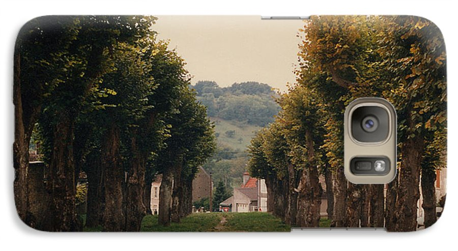 Trees Galaxy S7 Case featuring the photograph Tree Lined Pathway In Lyon France by Nancy Mueller