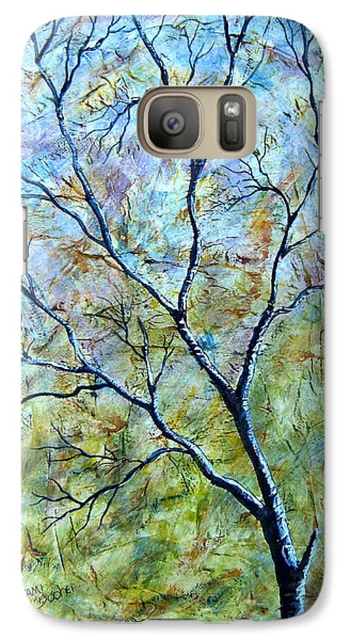 Galaxy S7 Case featuring the painting Tree Number Two by Tami Booher