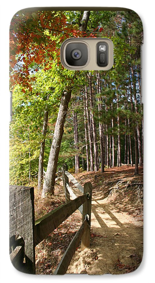 Tree Galaxy S7 Case featuring the photograph Tree Trail by Margie Wildblood