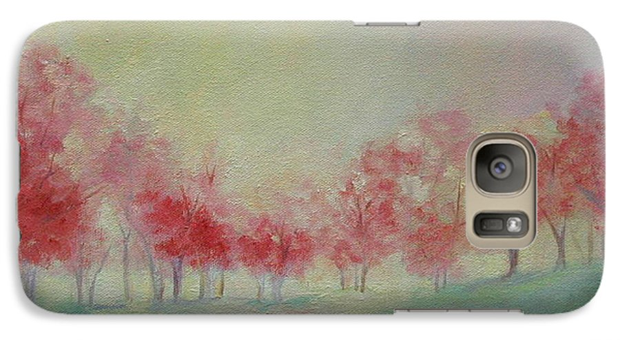 Impressionist Trees Galaxy S7 Case featuring the painting Treeline by Ginger Concepcion