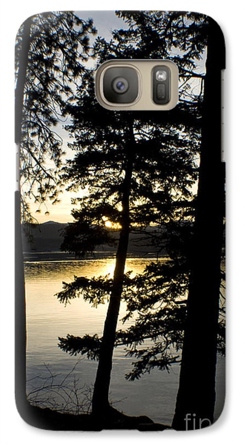 Trees Galaxy S7 Case featuring the photograph Trees By The Lake by Idaho Scenic Images Linda Lantzy