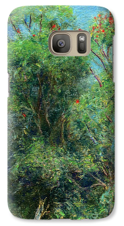 Rainbow Colors Pastel Galaxy S7 Case featuring the painting Trees Of Kokee by Kenneth Grzesik